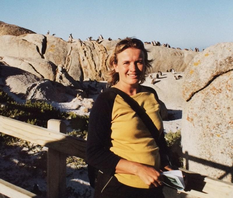 Annemarie bij Boulders Beach