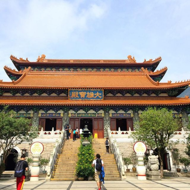The Po Lin Monastery on Lantau Island Hong Kong hongkonghellip