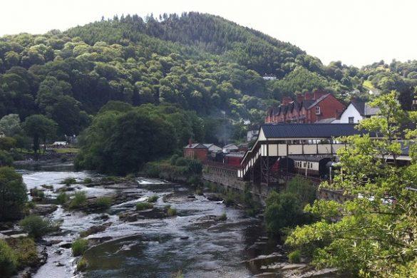 River Dee in LLangollen, Wales