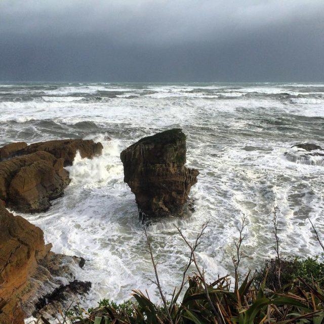 Stormy weather  Punakaiki on New Zealands South Island newzealandhellip