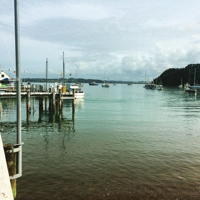 The beautiful Bay of Islands seen from the town ofhellip