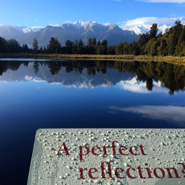 View from the Jetty Lookout  Lake Matheson New Zealandhellip