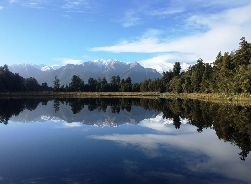 Lake Matheson perfect reflection