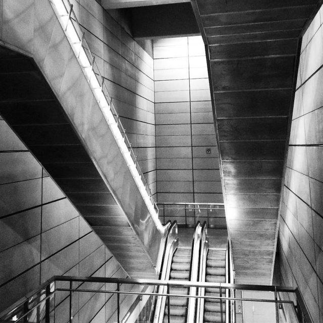 Escalators in a Copenhagen subway station copenhagen kopenhagen copenhagencity copenhagenmetrohellip