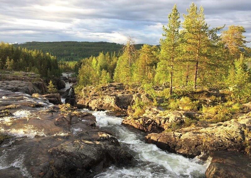 Storforsen in Zweeds Lapland