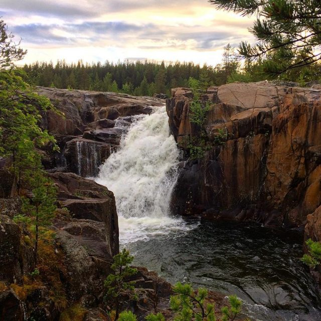 Waterfall  the beautiful Storforsen Nature Reseve in Sweden Newhellip