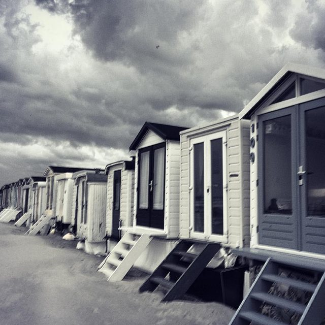 Beach huts just before a storm wijkaanzee beach beachhut beachlifehellip