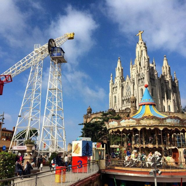 When visiting Barcelona with kids a trip to Tibidabo ishellip
