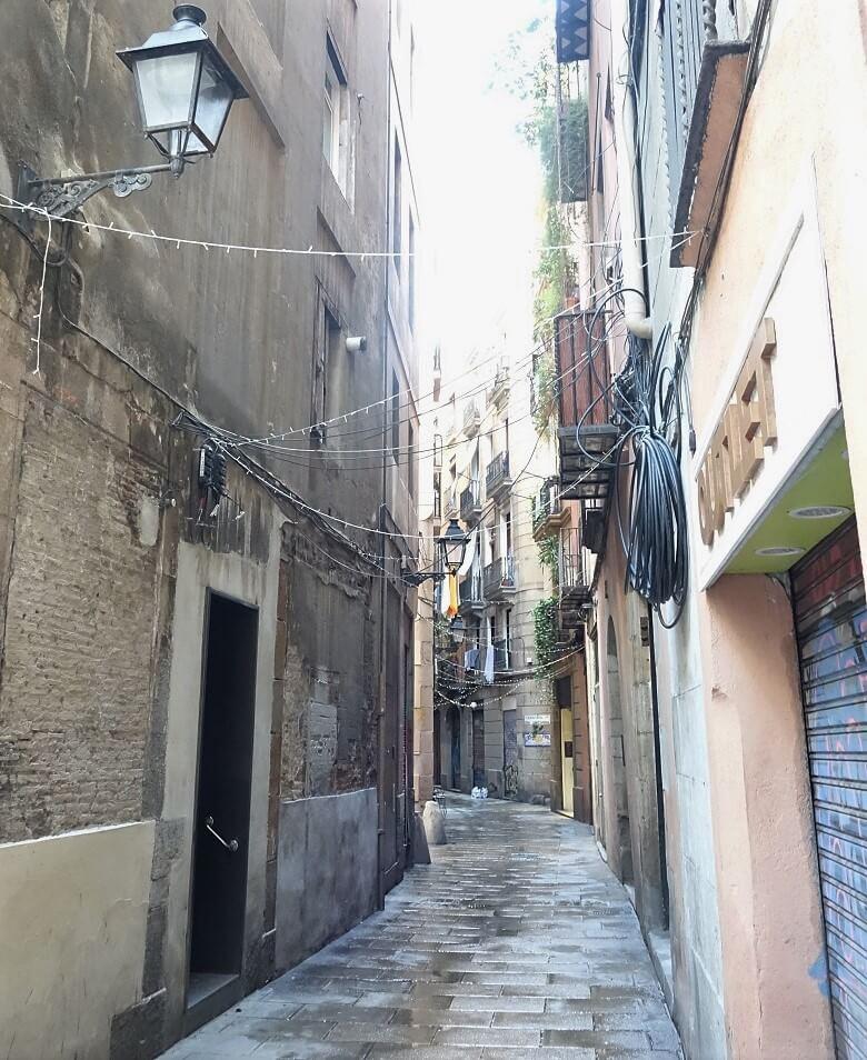 straatjes van Barcelona