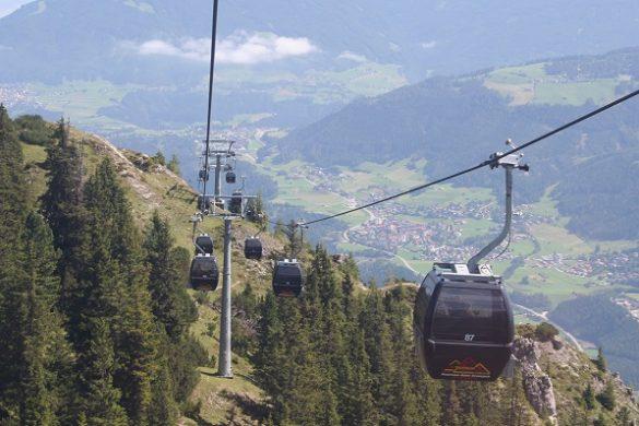 Skilift Fulpmes, Stubaital, Oostenrijk