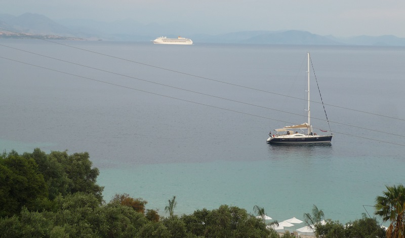 Uitzicht vanuit Barbati, Corfu