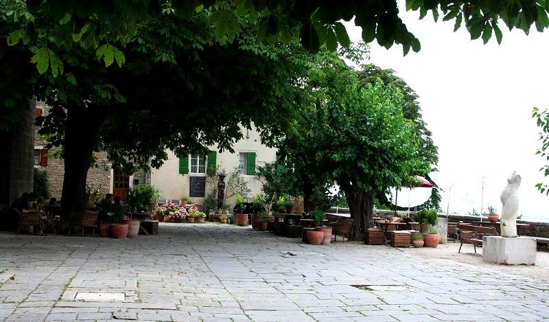 Pleintje in Groznjan, Istrië