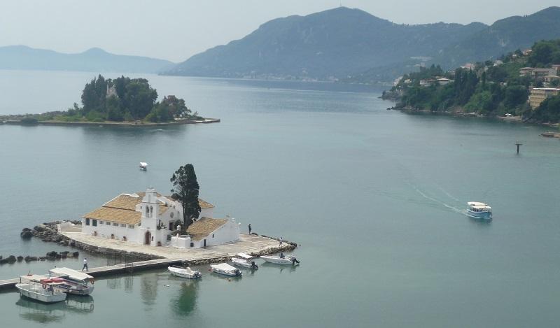 Pontikonisi-eiland bij Kanoni, Corfu