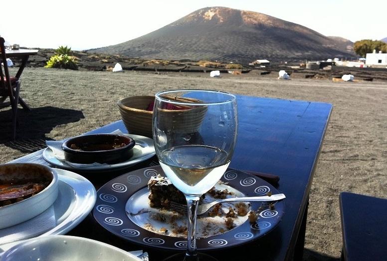 Uitzicht bij El Chupadero op Lanzarote