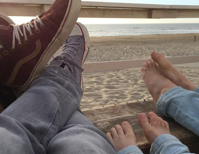 Aan het strand van Wijk aan Zee