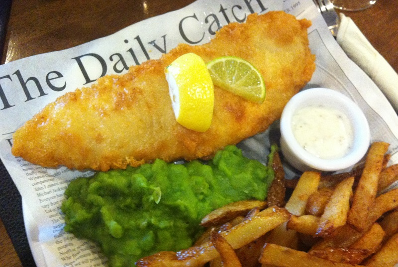 Fish & Chips bij St. Govan's Country Inn