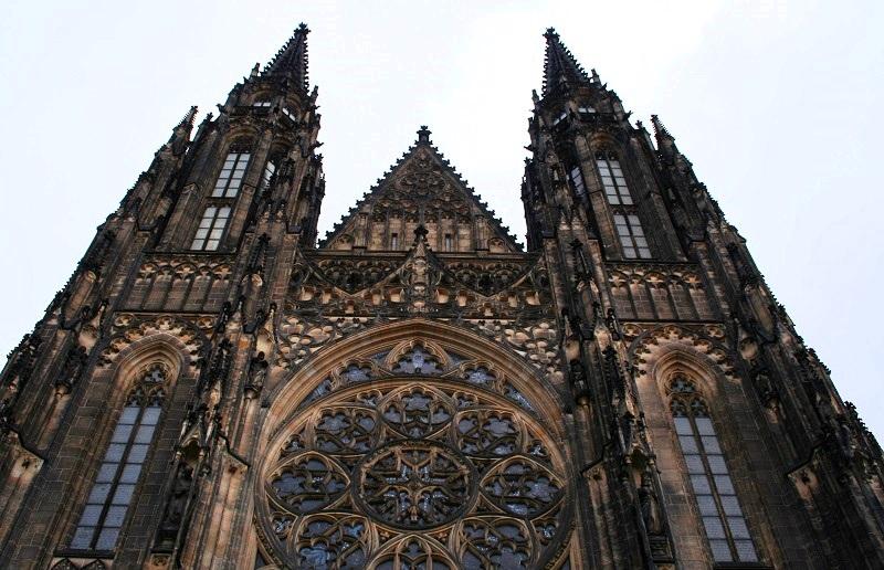 De St. Vituskathedraal in de Praagse Burcht