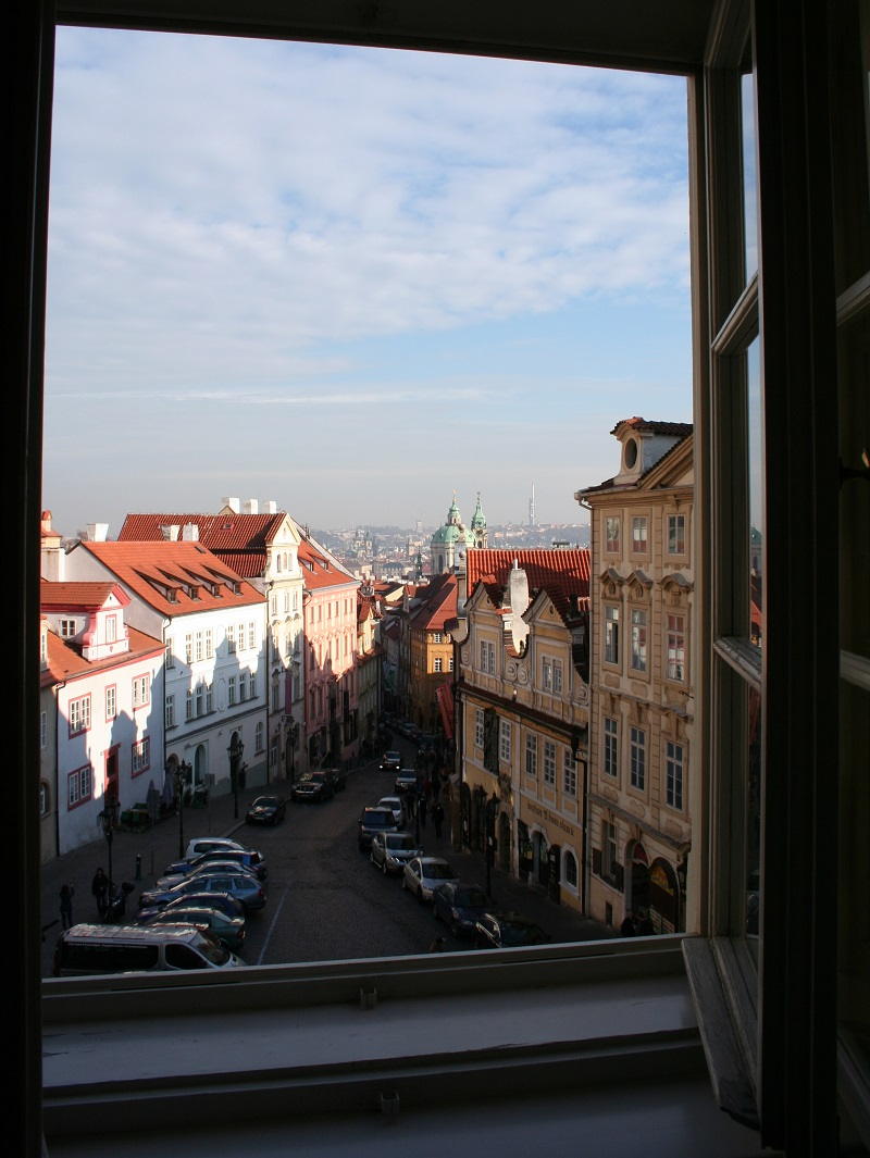 Uitzicht vanuit het hotel in Praag