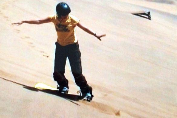 Sandboarding in Namibie
