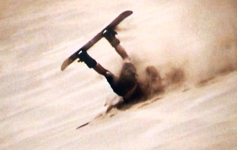 Sandboarden in Namibie
