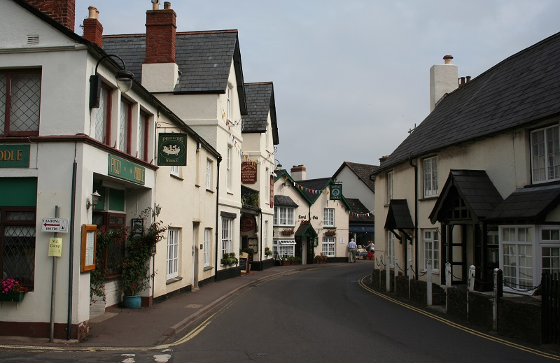 High Street in Porlock