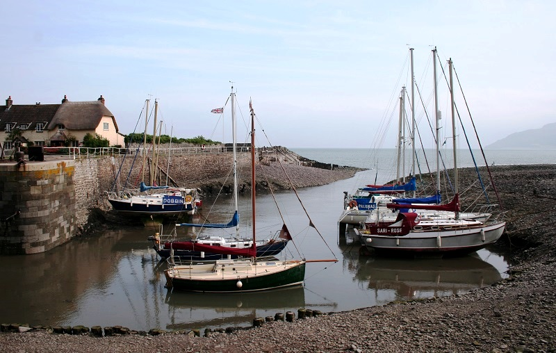 Porlock Weir in Exmoor National Park