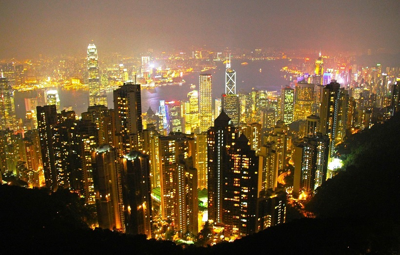 Hong Kong vanaf the Peak