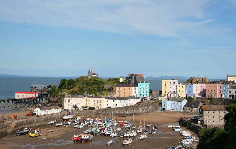 De haven van Tenby