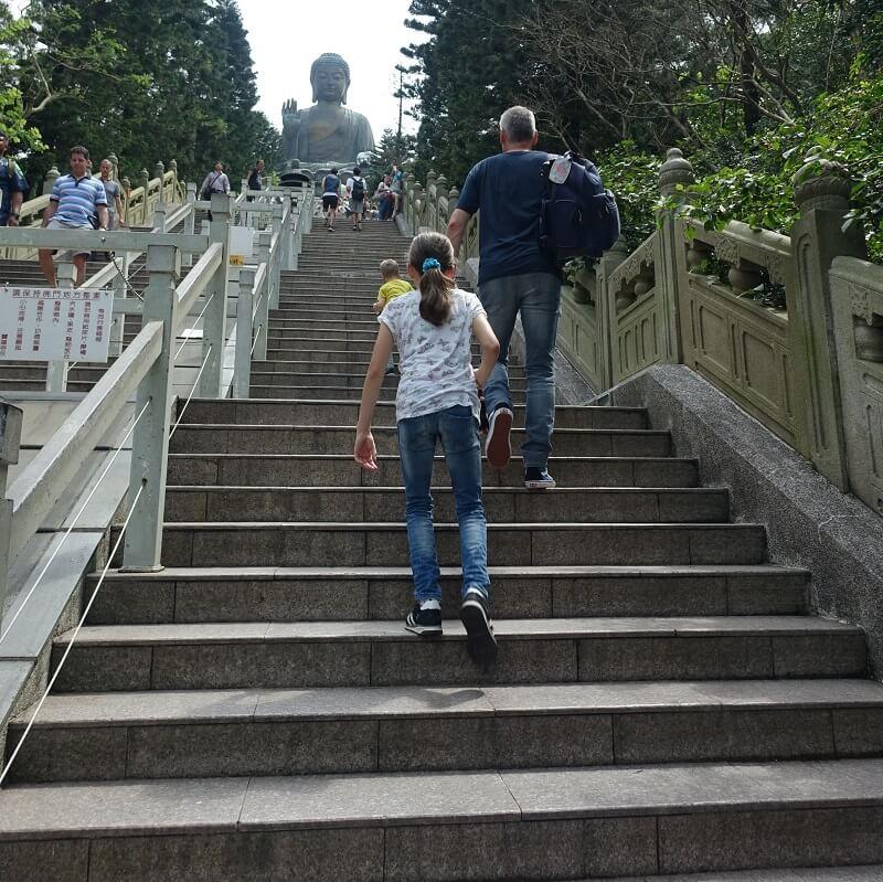 Big Buddha trappen, Lantau Island