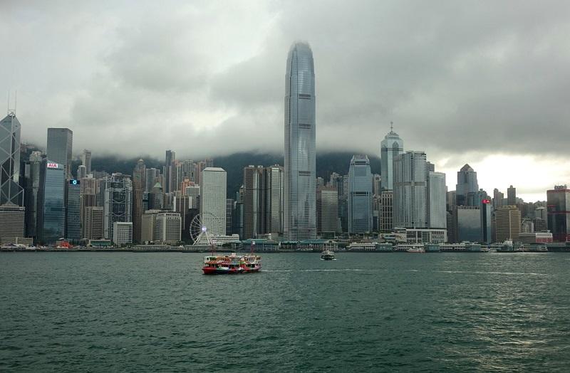 skyline van Hongkong