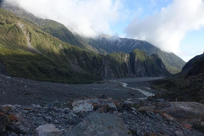 wandelen bij Fox Glacier