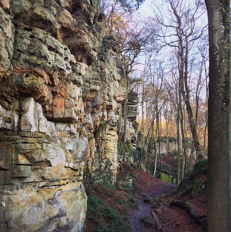 wandeling door de Teufelsschlucht in de Eifel