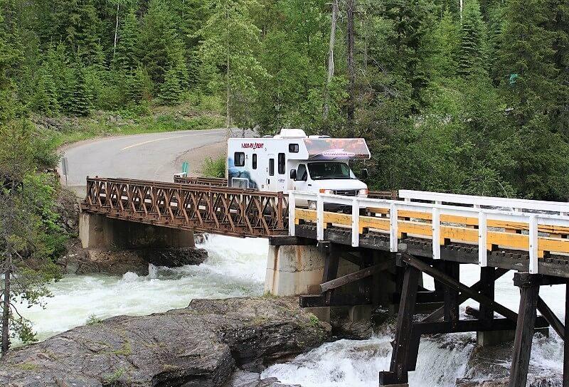 brug in Wells Gray Provincial Park