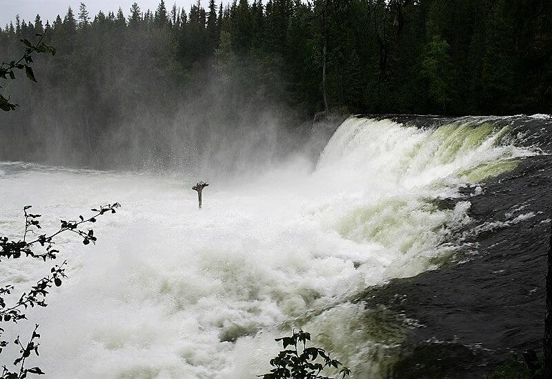 watervallen in Wells Gray Provincial Park