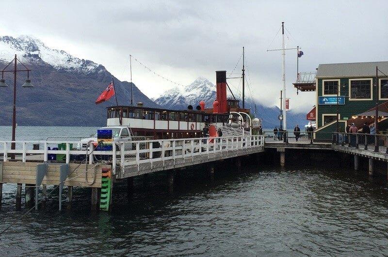 Steamer, Queenstown in Nieuw-Zeeland