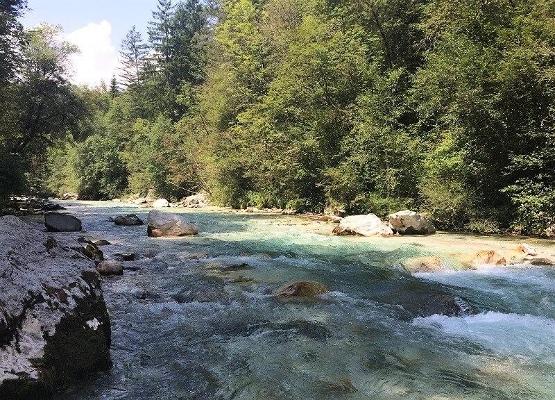 Soča-rivier bij Bovec