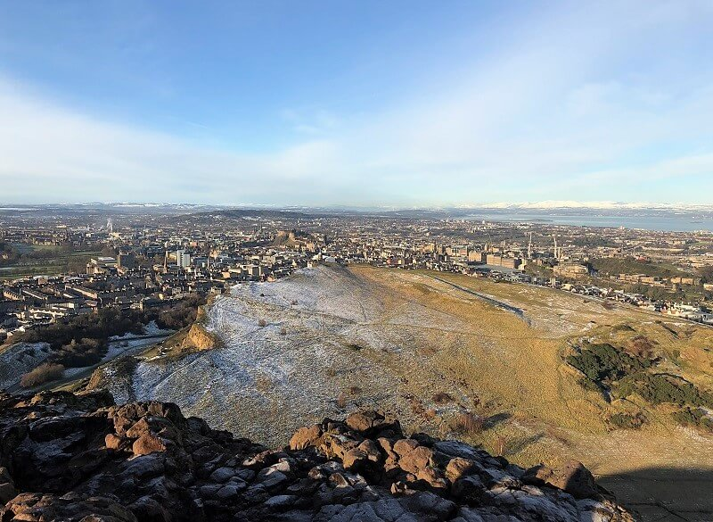 beklimmen van Arthur's Seat in Edinburgh