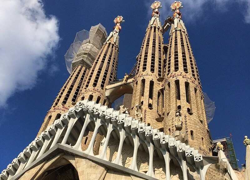 Sagrada Familia met kinderen