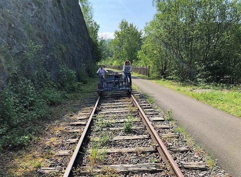 railbikes van de Molignee