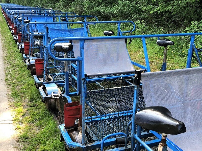 railbikes van de Molignée