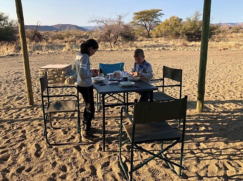 kamperen in Namibie