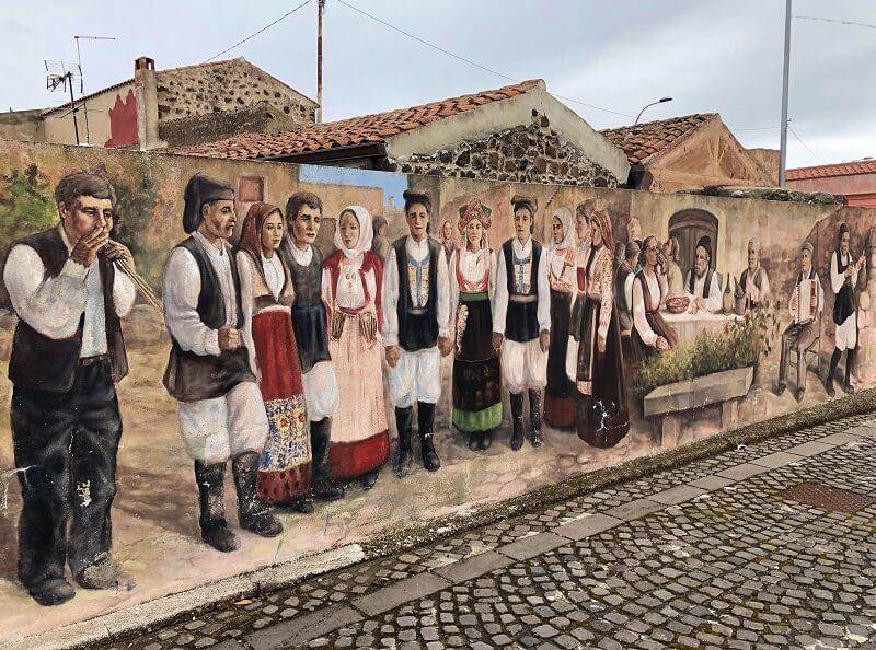 murales van Tinnura op Sardinie