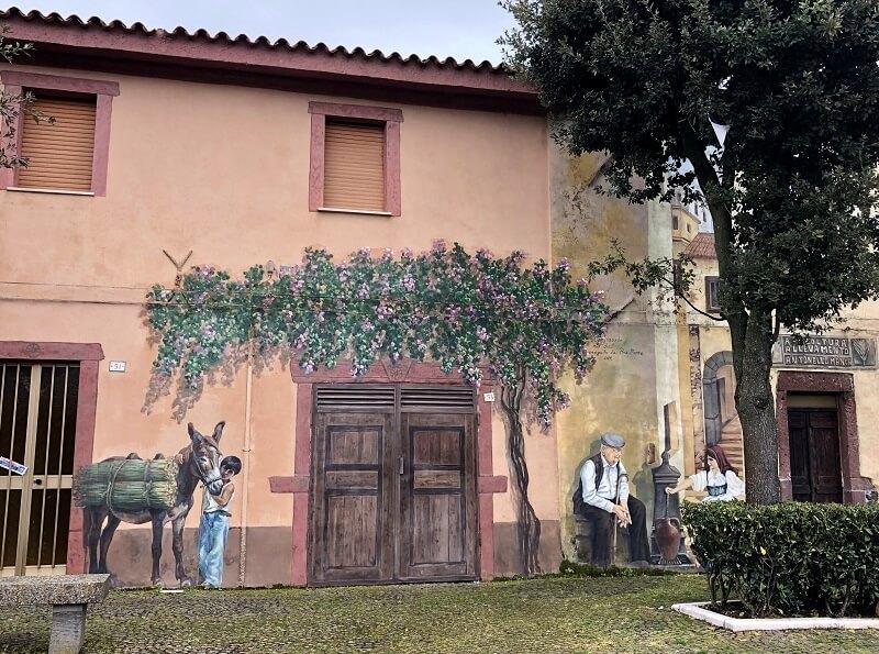 muurschildering Sardinie