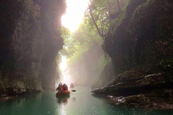 Martvili Canyon en Okatse Canyon