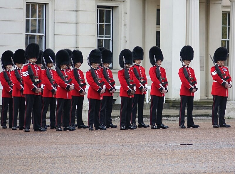 Inspection of the guards