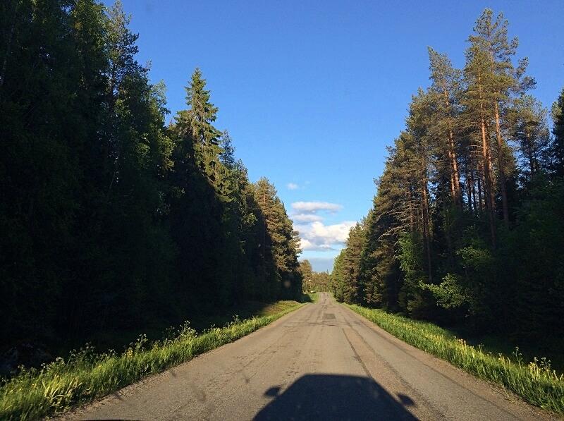 roadtrip door Zweeds Lapland