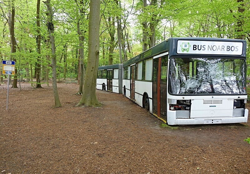 Folly Van bus noar bos